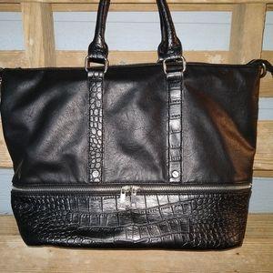 Black LD satchel/shoulder purse
